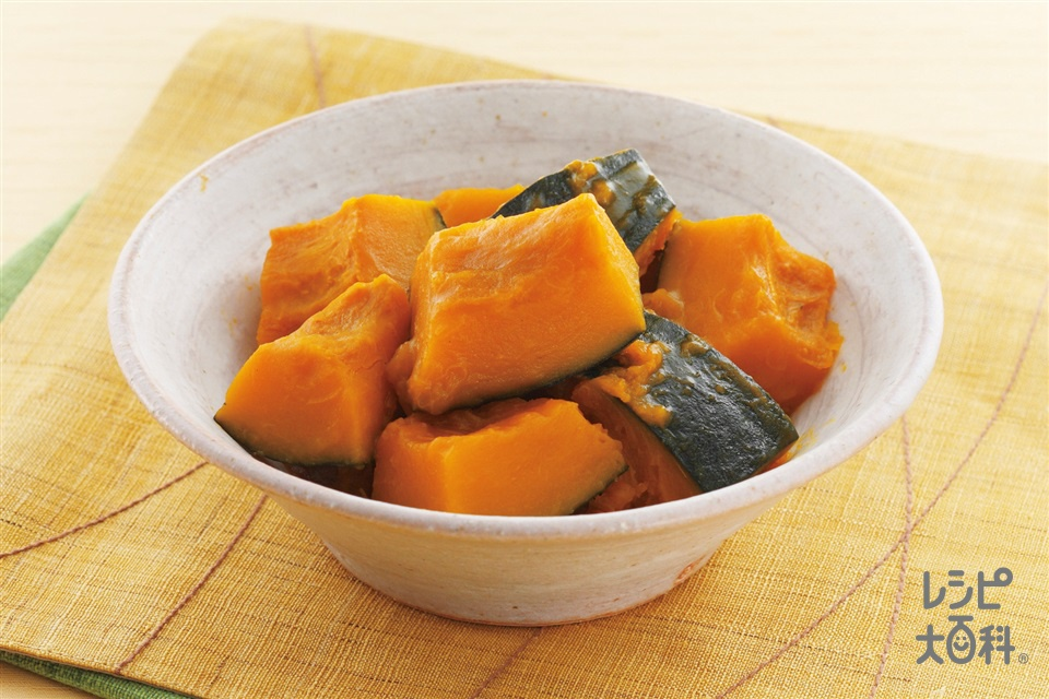 かぼちゃの煮もの(かぼちゃ+「ほんだし」を使ったレシピ)