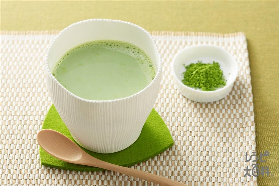 抹茶ミルク(牛乳を使ったレシピ)