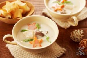 帆立貝ときのこのチャウダー(帆立貝柱+牛乳を使ったレシピ)