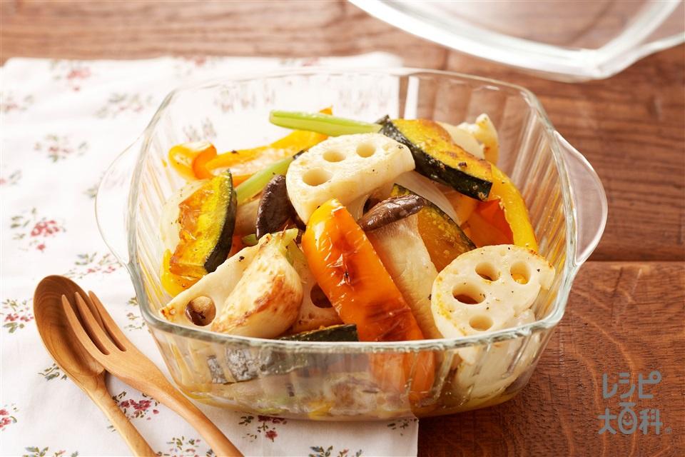 ゴロゴロ野菜のマリネ(玉ねぎ+かぼちゃを使ったレシピ)