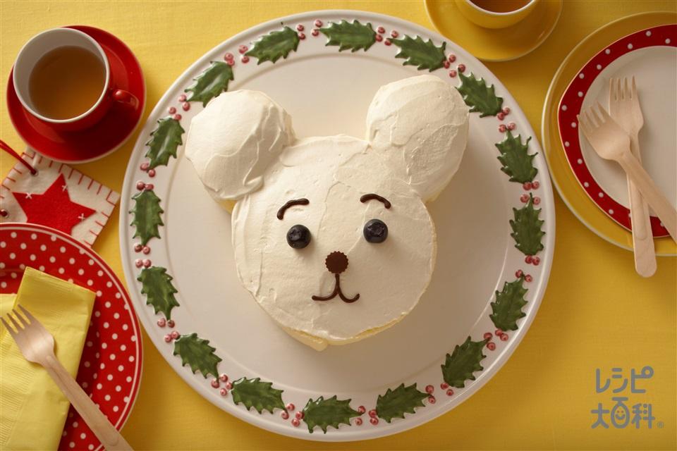 ホワイトベアのロールケーキ(卵+生クリームを使ったレシピ)