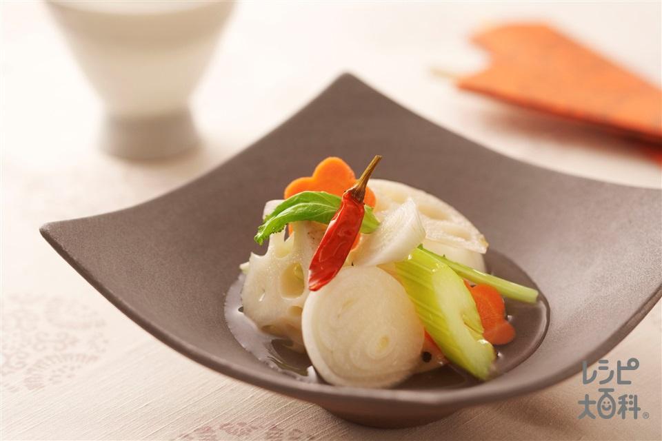 野菜たっぷり和風マリネ(玉ねぎ+かぶを使ったレシピ)