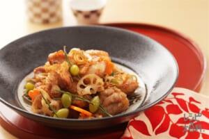 コンソメから揚げ(鶏もも肉+れんこんを使ったレシピ)