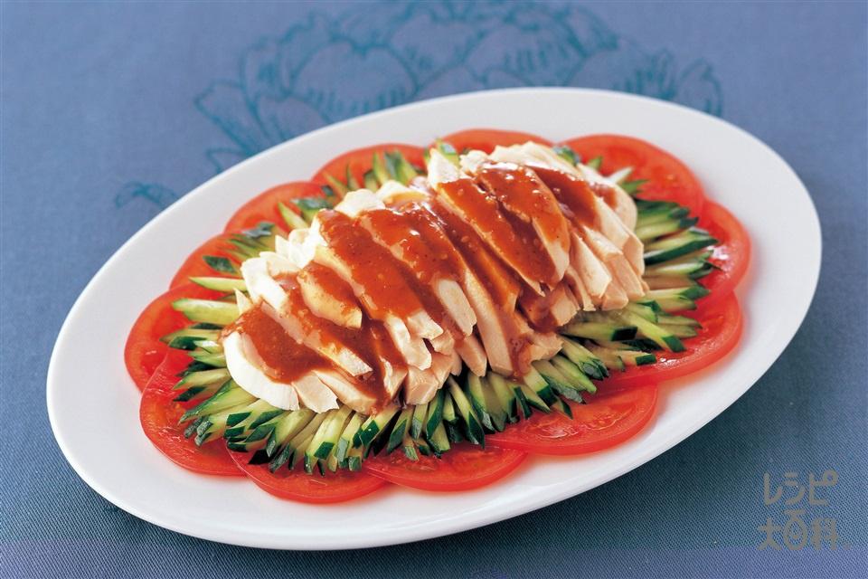 棒棒鶏(鶏もも肉+トマトを使ったレシピ)