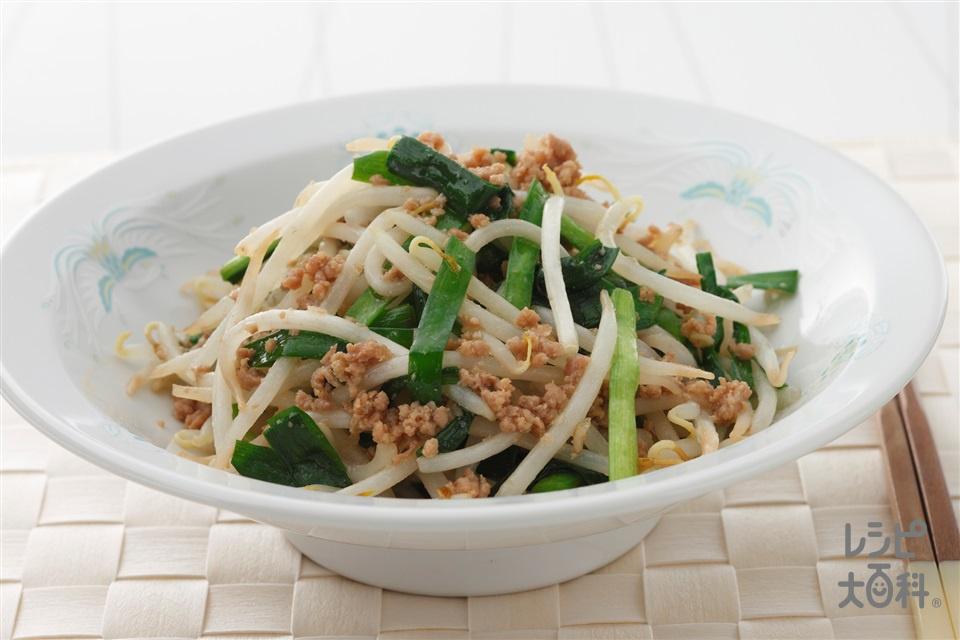野菜いため(にら+もやしを使ったレシピ)