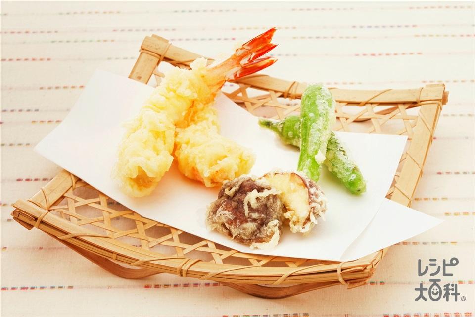 天ぷら(えび+薄力粉を使ったレシピ)