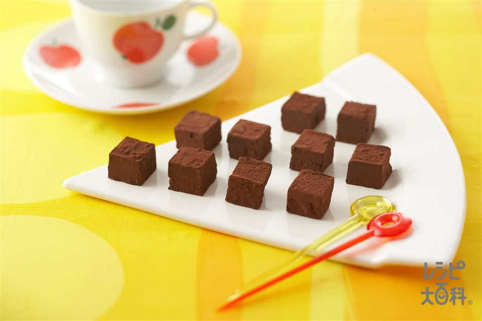 生チョコレート(クーベルチュールチョコレート+生クリームを使ったレシピ)