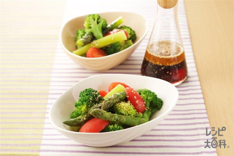 ゆで野菜の和風サラダ