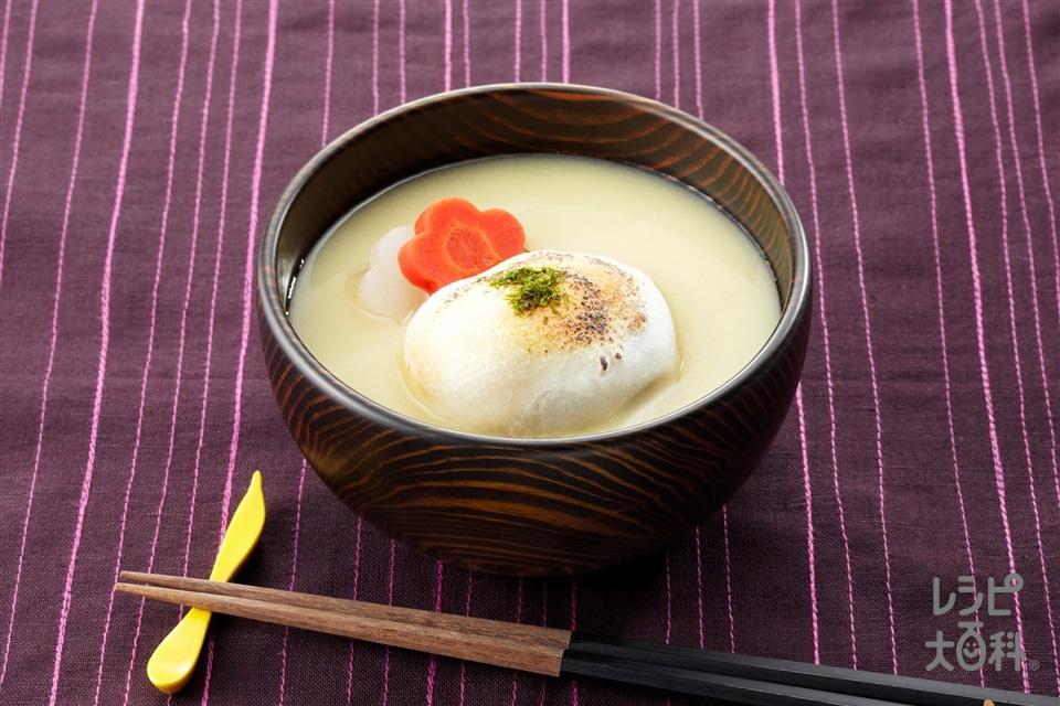 あん餅雑煮(大根+丸餅を使ったレシピ)