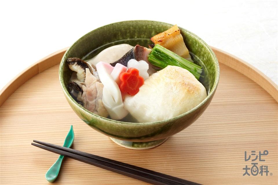 広島風お雑煮(鶏もも肉+丸餅を使ったレシピ)