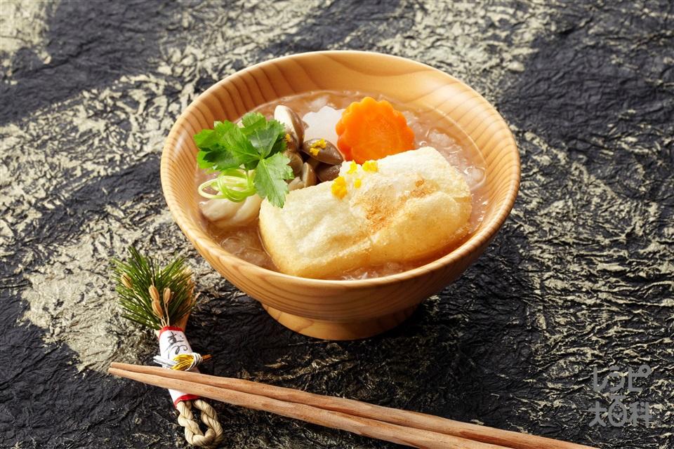 揚げ餅雑煮(大根+にんじんを使ったレシピ)