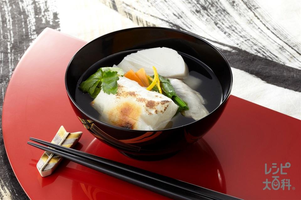 関東風お雑煮(鶏もも肉+角餅を使ったレシピ)