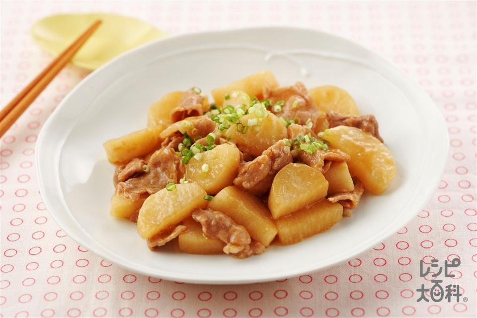 豚肉と長いものレンジ蒸し(豚こま切れ肉+長いもを使ったレシピ)