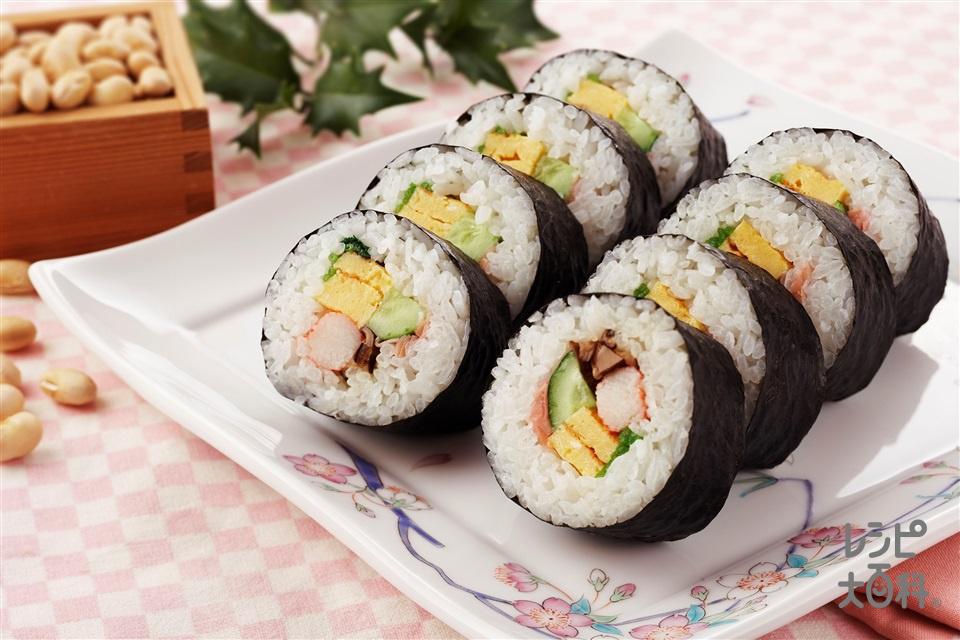 太巻き寿司(米+A酢を使ったレシピ)