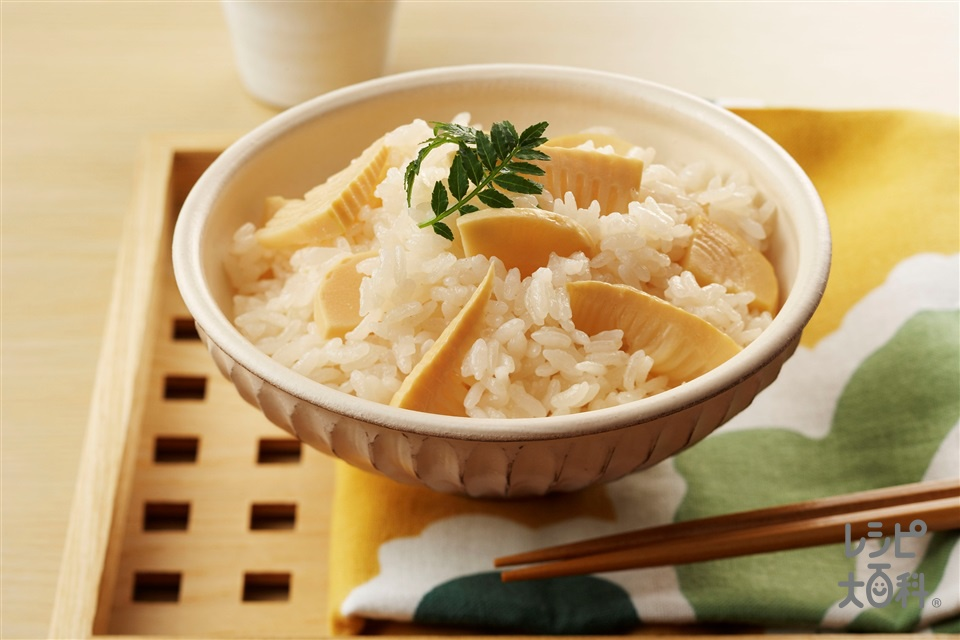 たけのこご飯(ゆでたけのこ+米を使ったレシピ)