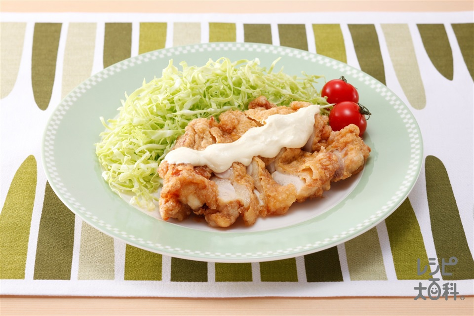 チキン竜田ジンジャーマヨソース(鶏もも肉(皮つき)+キャベツを使ったレシピ)