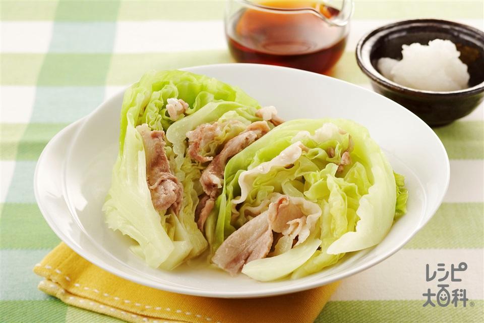 キャベツの重ね蒸し (キャベツ+豚バラ薄切り肉を使ったレシピ)