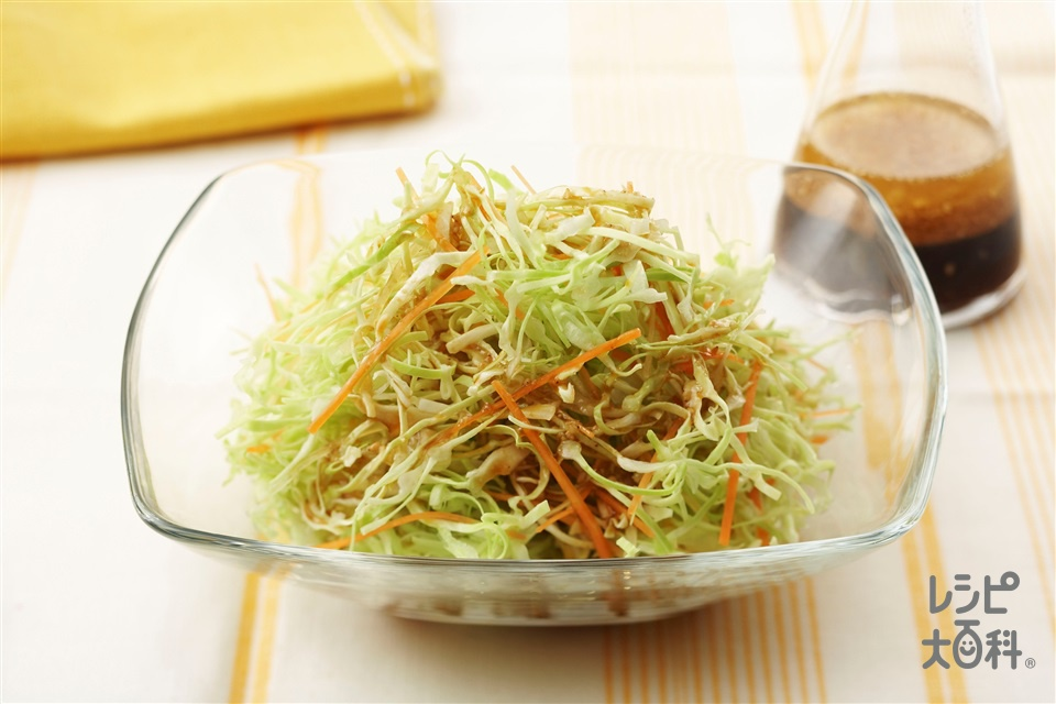 せん切りキャベツのサラダ中国風ドレッシング (キャベツ+にんじんを使ったレシピ)