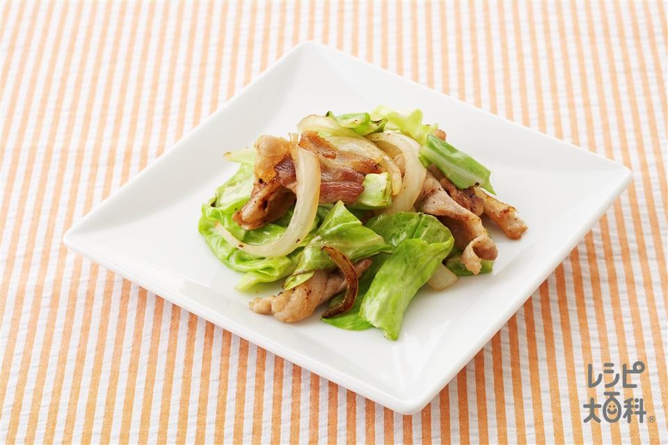 豚キャベツ炒め(豚バラ薄切り肉+キャベツを使ったレシピ)