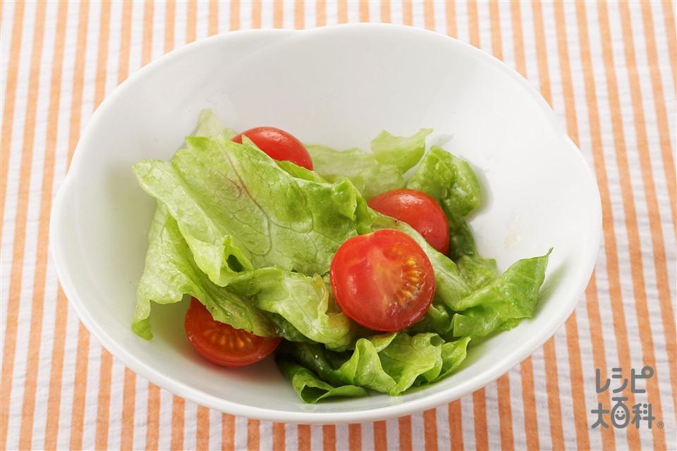 ミニトマトとレタスのサラダ(ミニトマト+レタスを使ったレシピ)