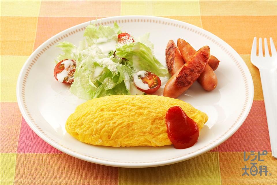 オムレツ(卵+「味の素KKコンソメ」顆粒タイプを使ったレシピ)