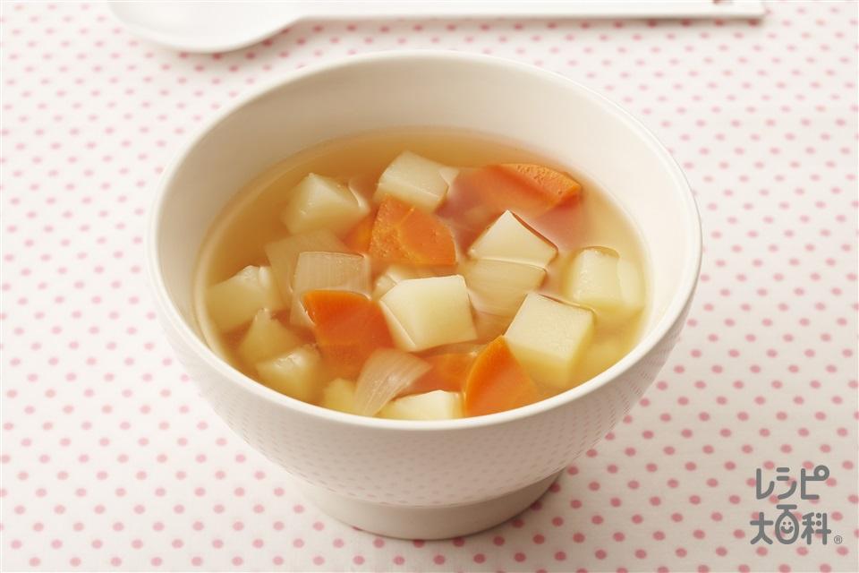 じゃがいものスープ(じゃがいも+玉ねぎを使ったレシピ)