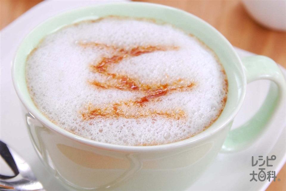 キャラメルソイラテ(調整豆乳を使ったレシピ)