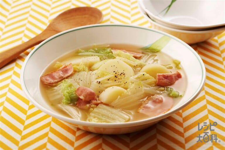 白菜の簡単スープ煮