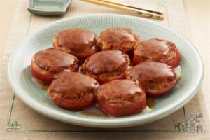 トマトのひき肉つけ焼き