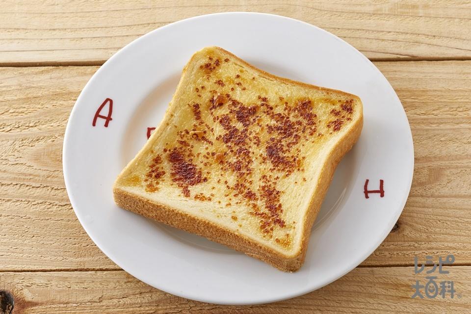 「ほんだし」マヨトースト(食パン6枚切り+「ピュアセレクト マヨネーズ」を使ったレシピ)