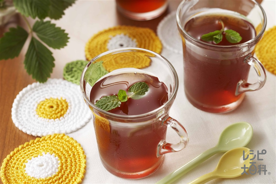 紅茶のゼリー(紅茶の葉+熱湯を使ったレシピ)