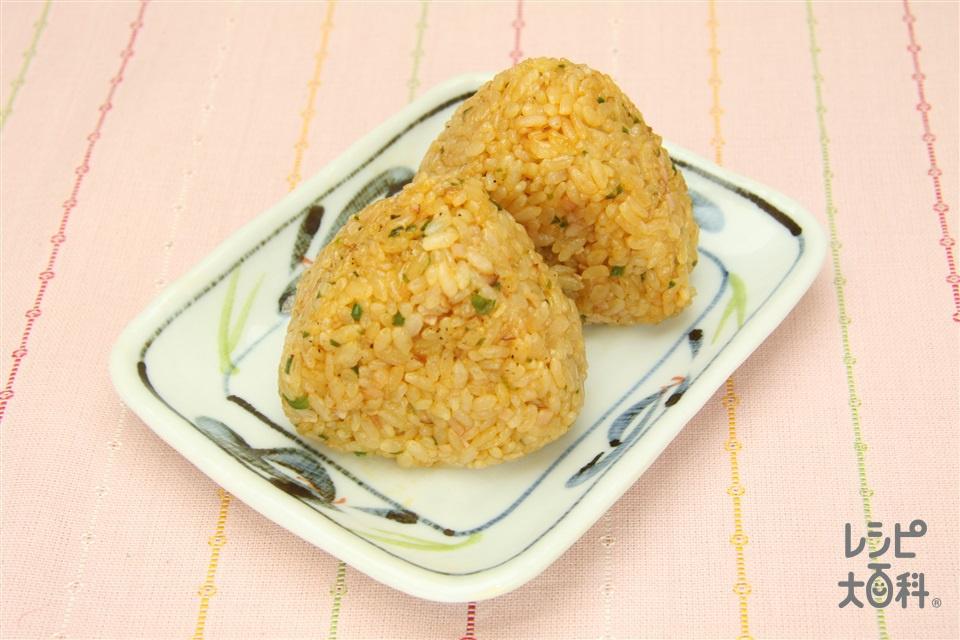 ナポにぎり(温かいご飯+ロースハムを使ったレシピ)