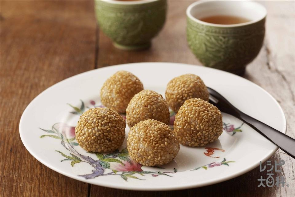 ごま団子(白玉粉+砂糖を使ったレシピ)