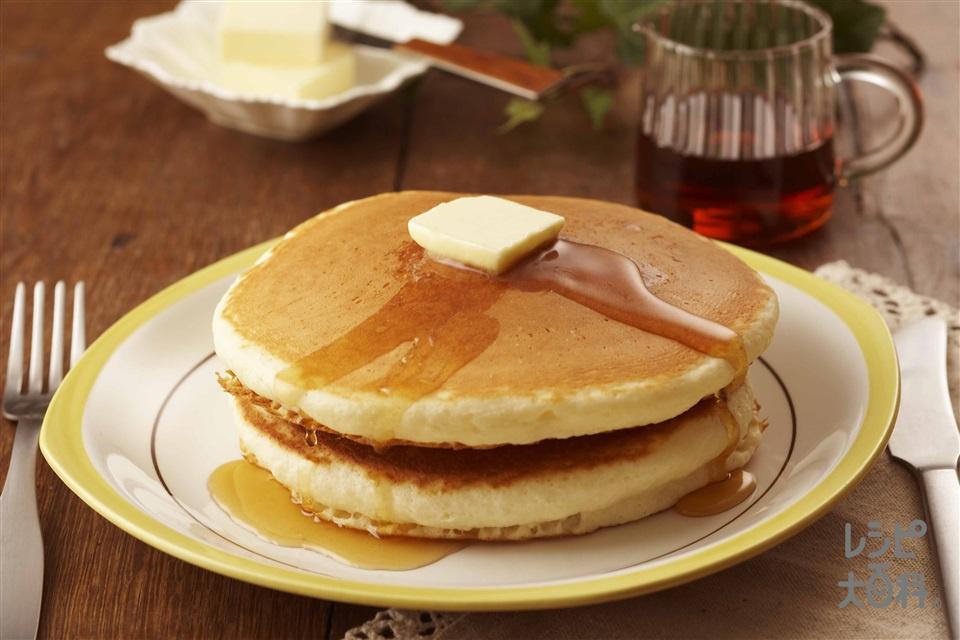 ホットケーキ(薄力粉+牛乳を使ったレシピ)
