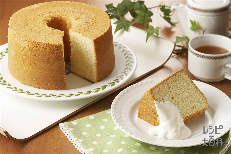 メープルシフォンケーキ(メープルシロップ+卵白を使ったレシピ)