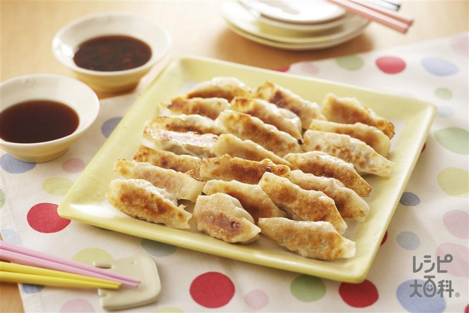 簡単ギョーザ(豚ひき肉+餃子の皮を使ったレシピ)