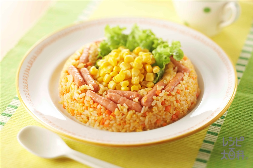 どっさりコーンチャーハン(ご飯+ミニウインナーソーセージを使ったレシピ)