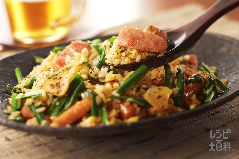 ウインナーのスタミナチャーハン(ご飯+卵を使ったレシピ)