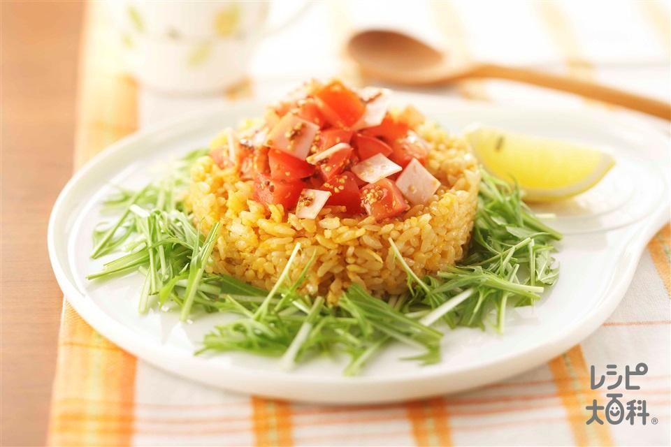 サラダチャーハン(ご飯+トマトを使ったレシピ)