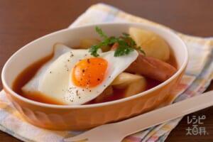 目玉焼きスープ