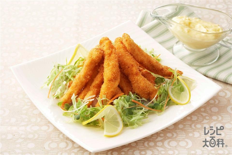 鶏肉のスティックフライ(鶏むね肉+パン粉を使ったレシピ)