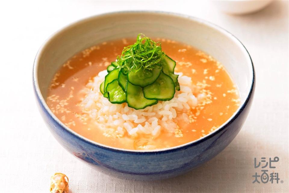 食欲そそる うま冷や汁(きゅうり+ご飯を使ったレシピ)