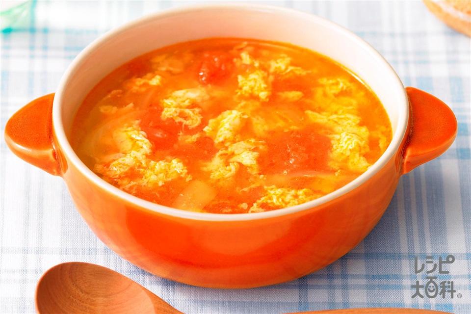 トマたまガーリックスープ(トマト+玉ねぎを使ったレシピ)