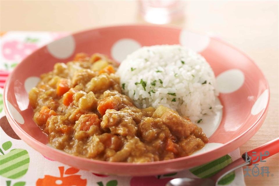 甘口チキンカレー(鶏もも肉+じゃがいもを使ったレシピ)