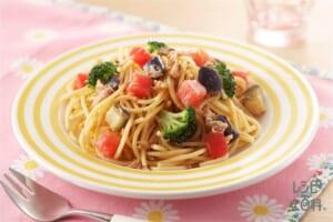 ツナと野菜のパスタ