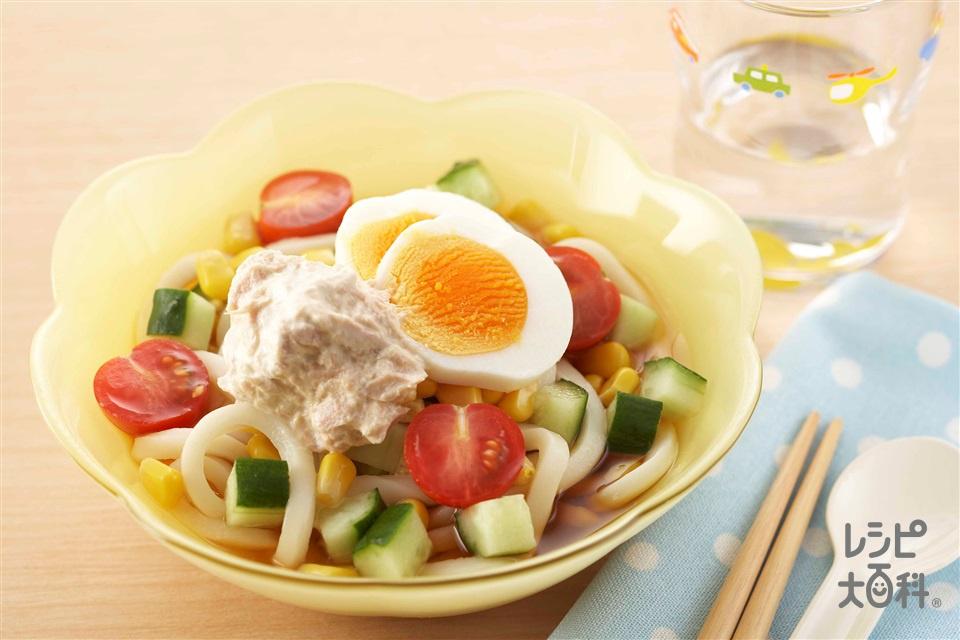 ぶっかけうどん(ゆでうどん+ミニトマトを使ったレシピ)