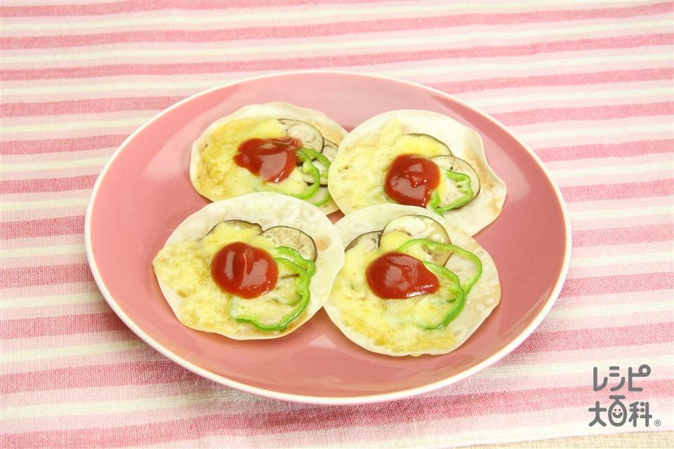 ギョウザの皮の野菜焼き(餃子の皮+ピーマンを使ったレシピ)