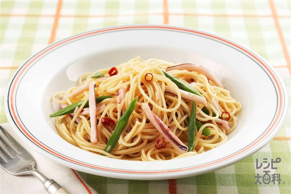 いかのペペロンチーノ(スパゲッティ+いか(胴)を使ったレシピ)