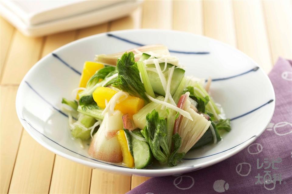 簡単 夏のこんぶ浅漬け(きゅうり+セロリを使ったレシピ)