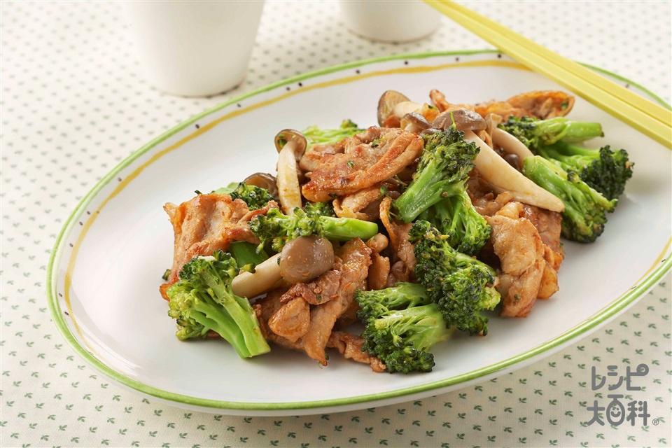 しめじとブロッコリーの中華炒め(しめじ+ブロッコリーを使ったレシピ)